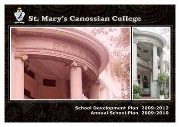 School Development Plan (2009-2012) - St. Mary's Canossian College