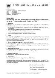 Verordnung_Buergerrecht - Gemeinde Hausen am Albis