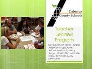 Teacher Leaders Program Board Presentation December 2013