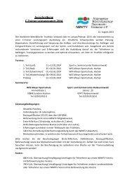 Ausschreibung C-Trainer Leistungssport 2014 - NRWTV