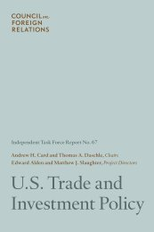 U.S. Trade and Investment Policy - Council on Foreign Relations