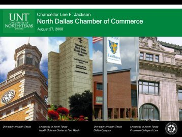 North Dallas Chamber of Commerce - University of North Texas ...