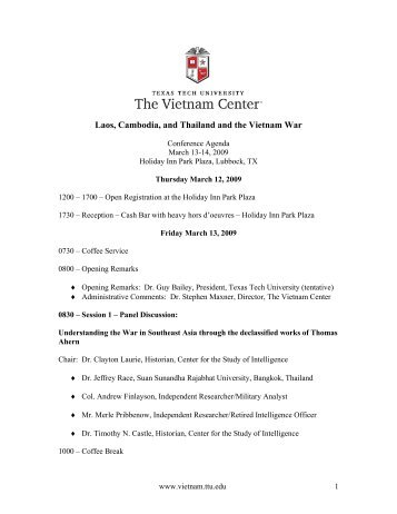 Laos, Cambodia, and Thailand and the Vietnam War