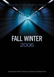 Fall/Winter 2006 - University of Toronto Press Publishing