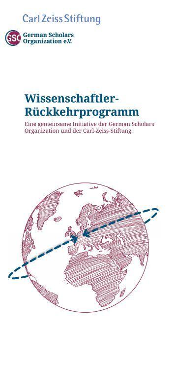 Wissenschaftler- Rückkehrprogramm - German Scholars Organization