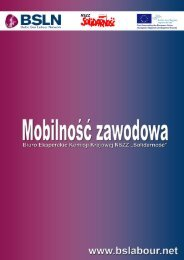 Mobilność zawodowa w Polsce – szanse i ... - NSZZ Solidarność