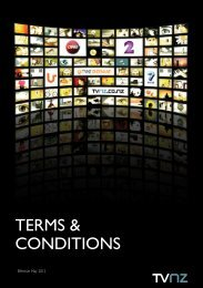 TERMS & CONDITIONS - Tvnz