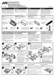 KD-G502/KD-G501 Manual de instalación/conexión Manuale d ... - Jvc