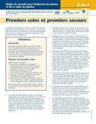 Télécharger le PDF (81 ko )Premiers soins et - CSST