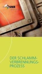 Der Schlamm- verbrennungS- prozeSS - SNB
