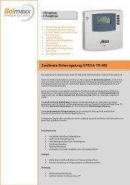 Zweikreis-Solarregelung STECA TR 402 - Solmaxx