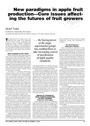 New Paradigm in Apple Fruit Production - Virtual Orchard