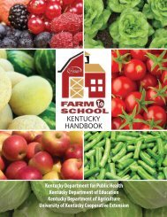 Farm to School Resource Guide (pdf) - Kentucky Department of ...