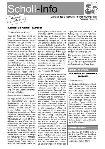 Scholl-Info Nr. 2 – Juni 2008 (PDF, 4 MB)