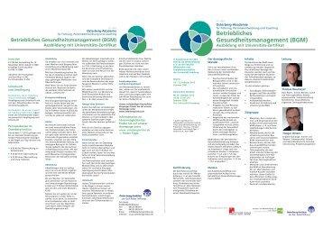 Betriebliches Gesundheitsmanagement (BGM) - Osterberg-Institut