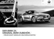 DER BMW Z4. ORIGINAL BMW ZUBEHÖR. - BMW Diplomatic Sales