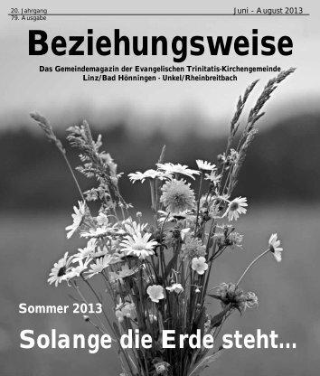 Juni bis August 2013 - Evangelische Trinitatis-Kirchengemeinde