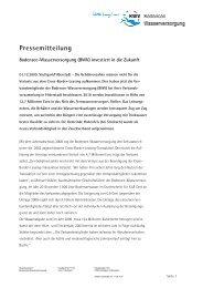 (BWV) investiert in die Zukunft - Zweckverband Bodensee ...