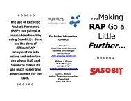 Sasobit® and RAP rev1.pdf - Sasolwax US