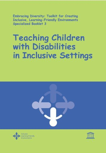 Teaching Children with Disabilities - UNESCO Bangkok