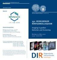 350. heidelberger röntgenkolloquium - UniversitätsKlinikum ...