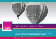 Sponsorship opportunities - Brighton & Hove Chamber of Commerce