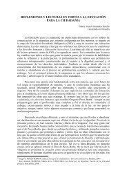REFLEXIONES Y LECTURAS EN TORNO A LA ... - Contraclave