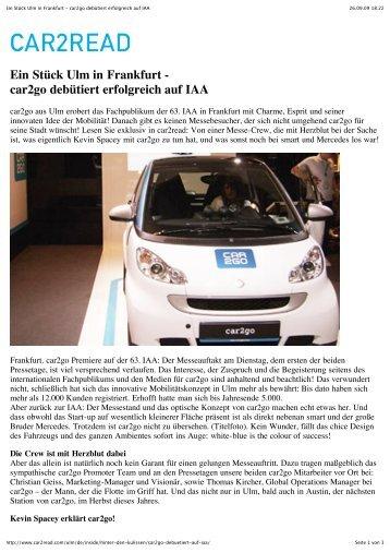 car2go debütiert erfolgreich auf IAA - zurück