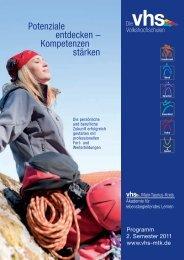 Potenziale entdecken – Kompetenzen stärken - vhs Main-Taunus ...