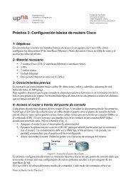 Práctica 3: Configuración básica de routers Cisco - Telemática