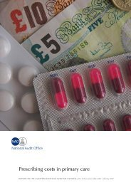 Prescribing Costs in Primary Care - National Audit Office