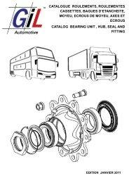 CATALOGUE ROULEMENT CASSETTE - GiL Automotive