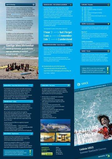 Coláiste UISCE Summer Gaeltacht Courses