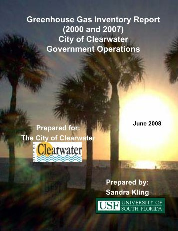 Greenhouse Gas Inventory Municipal Government - City of Clearwater
