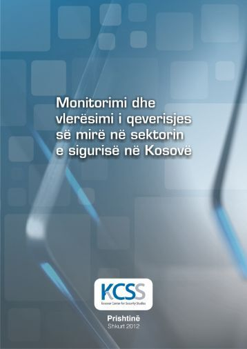Monitorimi dhe vlerësimi i qeverisjes së mirë në sektorin e ... - QKSS