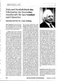 Interview mit Prof. Dr. J. Keul - Deutsche Zeitschrift für Sportmedizin