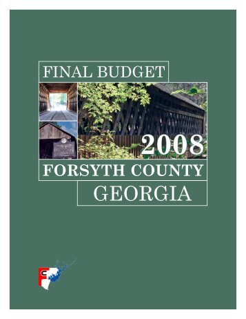 2008 Adopted Budget - Forsyth County Government