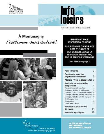 Automne 2012 - Ville de Montmagny