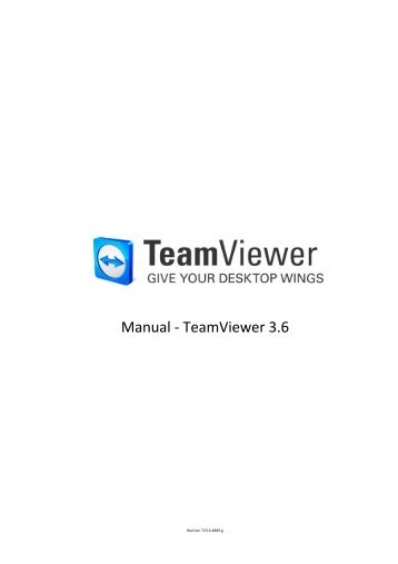 Manual Teamviewer 3.6