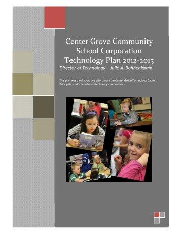 CGCSC Technology Plan 2012-2015 - Center Grove Community ...