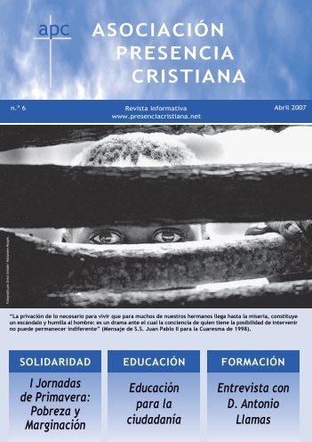 ASOCIACION PRESENCIA CRISTIANA - Asociación Presencia ...