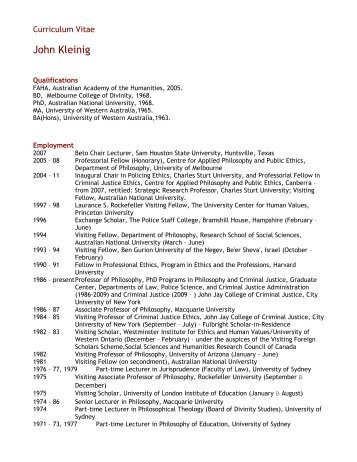 Curriculum Vitae - CAPPE. Centre For Applied Philosophy and ...