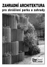 doporučení pro výstavbu zahradní architektury - Liapor