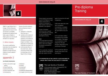 Pre-diploma Training - Law Society of Scotland