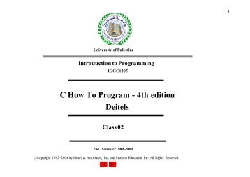 C How To Program - 4th edition Deitels