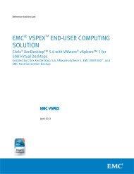 EMC® VSPEX™ END-USER COMPUTING SOLUTION - Magirus