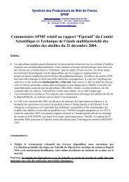 """Commentaire SPMF relatif au rapport """"Fipronil"""" du ... - Apiservices"""