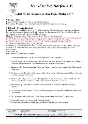 Satzung Stand 01-2011.pdf - Isen-Fischer Dorfen e.V.