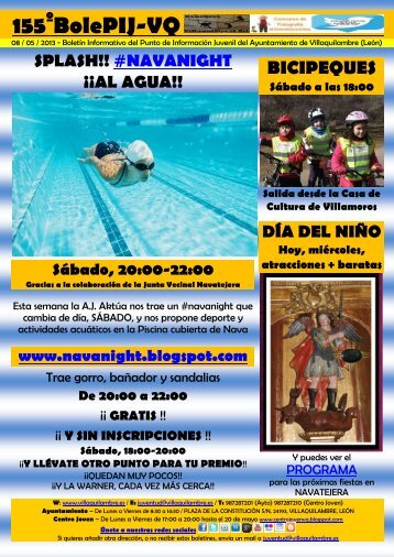 155º - 08/05/13 - splash! #navanight al agua - Ayuntamiento de ...