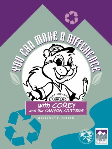 You Can Make a Difference Activity Book featuring COREY and the ...